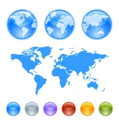Earth globes creation kit vector image