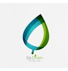 Eco nature leaf go green environmental concept vector