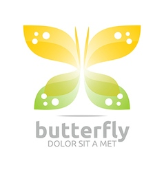 Abstract logo beautiful butterfly design icon vector