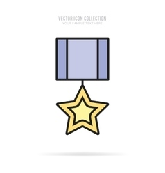 Awards icons isolated with shadow vector image vector image