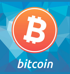 bitcoin blockchain criptocurrency orange logo vector image vector image