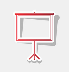 Blank projection screen new year reddish vector