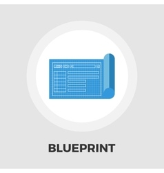 Blueprint flat icon vector image vector image