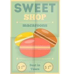 Candy shop macaroon vector