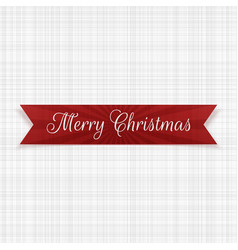 christmas festive ribbon for your design vector image