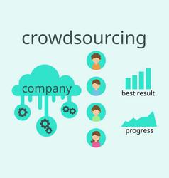 crowdsourcing business flat design flyer vector image vector image