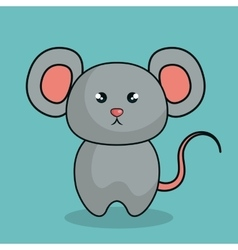 cute mouse stuffed icon vector image