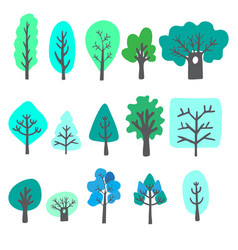 Doodle trees vector