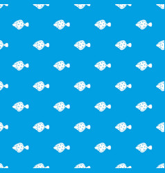 Flounder fish pattern seamless blue vector