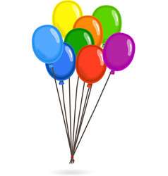 Gathered colorful flying balloons vector image
