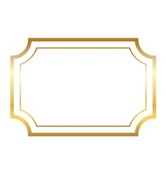 Gold frame simple golden white vector image vector image