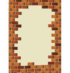 grunge brick wall vector image vector image