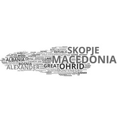 Macedonia word cloud concept vector