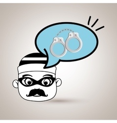 Man criminal law icon vector