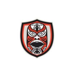 Maori Mask Shield Retro vector image
