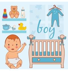 room baby boy vector image