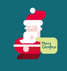 Santa claus colorful flat vector