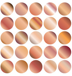 set of circle gradient backgrounds vector image