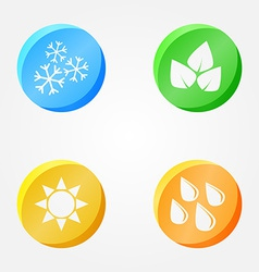 symbols of 4 seasons - winter spring summer autumn vector image vector image