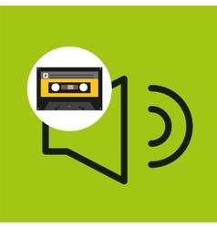 Volume music cassette tape vector