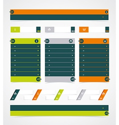 Web site design element vector image vector image