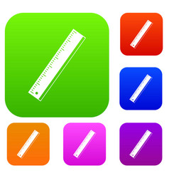 Yardstick set color collection vector