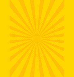 Yellow retro vintage style background with sun vector