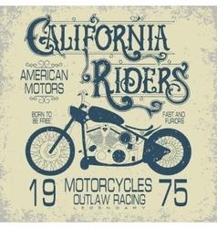 Motorcycle sport emblem vector image