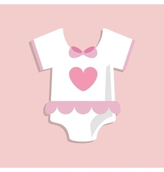 Baby cloth of baby shower card design vector