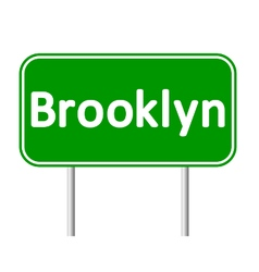 Brooklyn green road sign vector