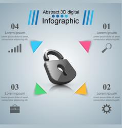 Infographic  lock icon vector