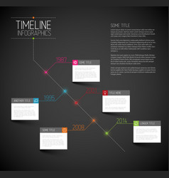 Infographic dark diagonal timeline report template vector