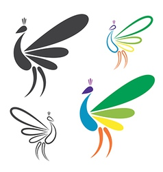 Image of peacock design vector