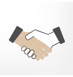 Shake hand vector