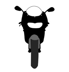 Motorcycle front view vector