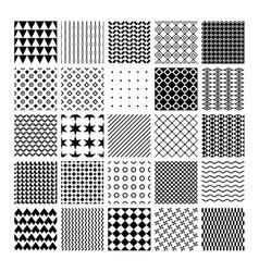 monochrome seamless patterns vector image