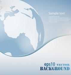 light blue business background vector image