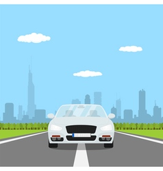 car on the road vector image