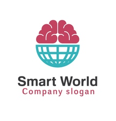 Smart world design vector
