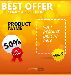Sale background best offer vector