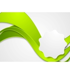 Bright green wavy corporate background vector