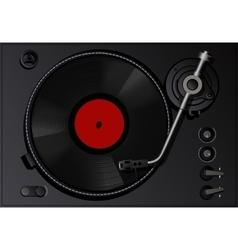 Vintage vinyl player vector image