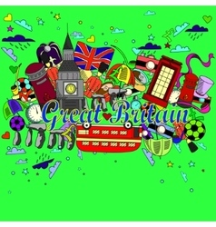 Great britain line art design vector
