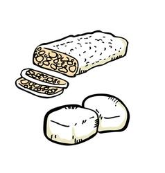 tofu vector image