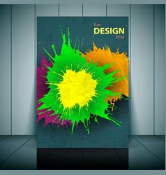 Dental brochure flyer magazine cover vector