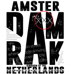 Athletic sport amsterdam typography t-shirt vector