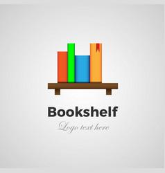 bookshelf logo concept vector image vector image