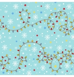 Christmas seamless pattern with garland vector