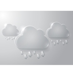 Cloud with drops vector image