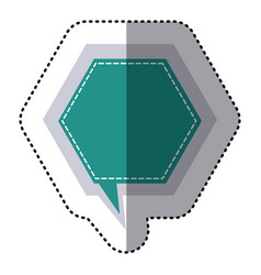 Color sticker hexagon frame callout dialogue vector